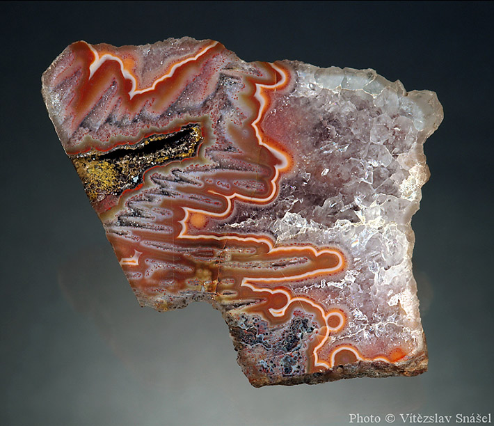 Lightning agate from Horní Halže, Czech Republic