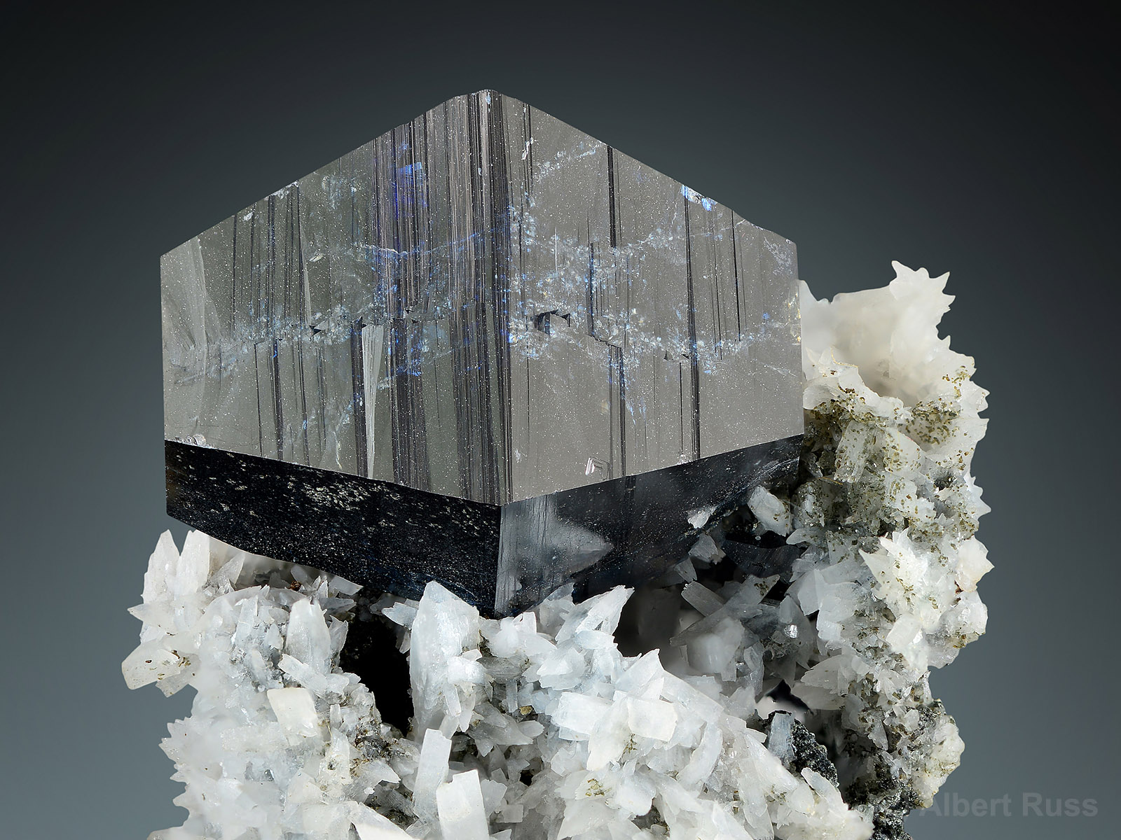 Anatase crystal on adularia from Kharan district, Balochistan, Pakistan