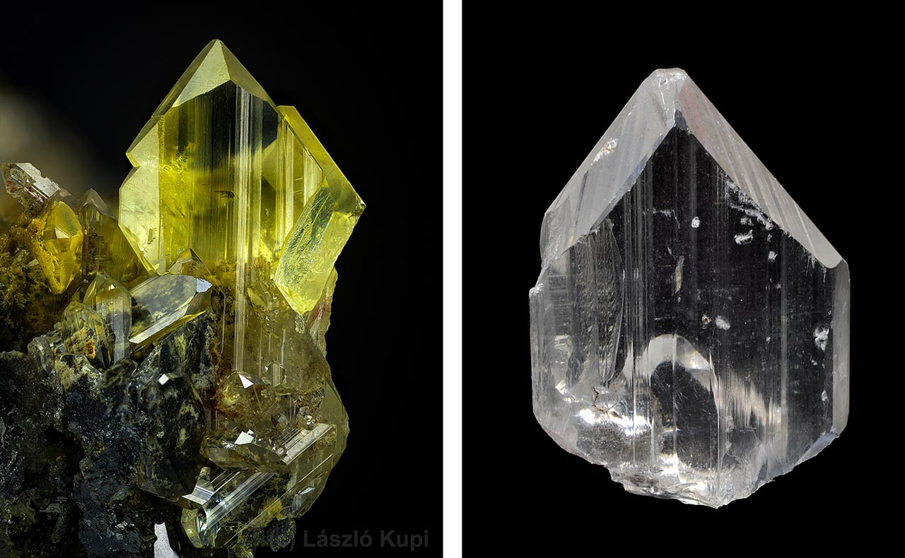 Anglesite crystals from Toussit, Oujda-Angad, Morocco