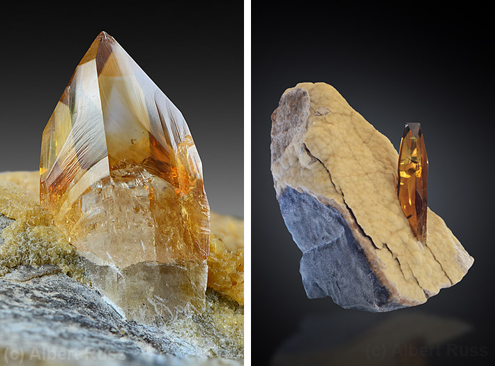 honey colored crystals of baryte from south dakota