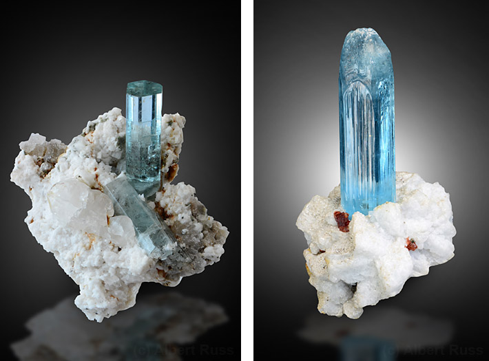 Aquamarine and albite crystals from Pakistan