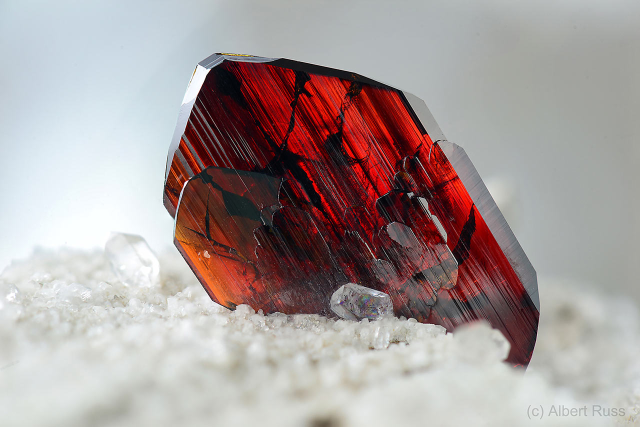 Detail of perfect brookite crystal from Khârân District, Balochistan province, Pakistan