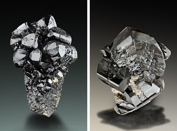 Excellent crystals of cassiterite from Viloco Mine, Loayza, Bolivia