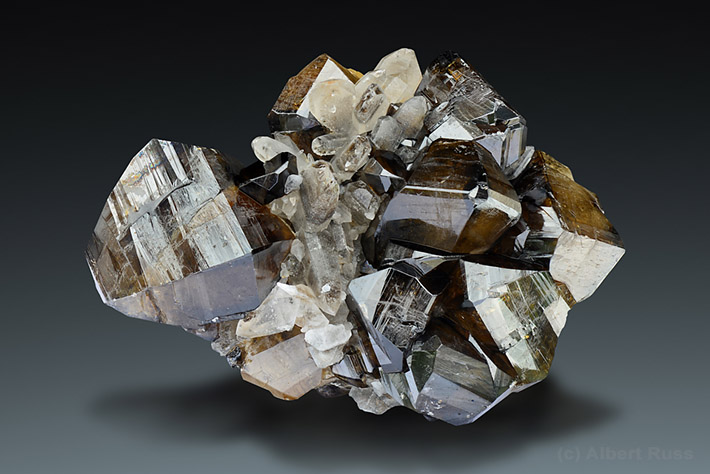 Brown cassiterite crystal from Viloco Mine, Loayza, Bolivia