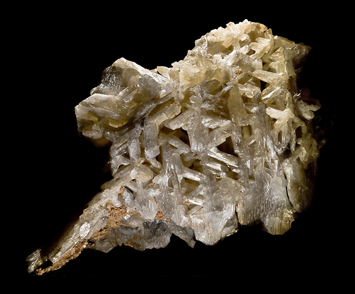 Snowflake shaped aggregate of cerussite crystals from Tsumeb, Namibia