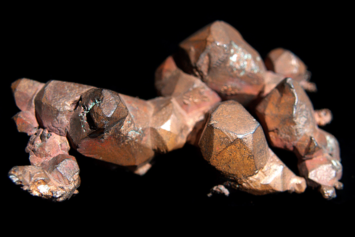 Crystals of copper from Lake Superior, Michigan