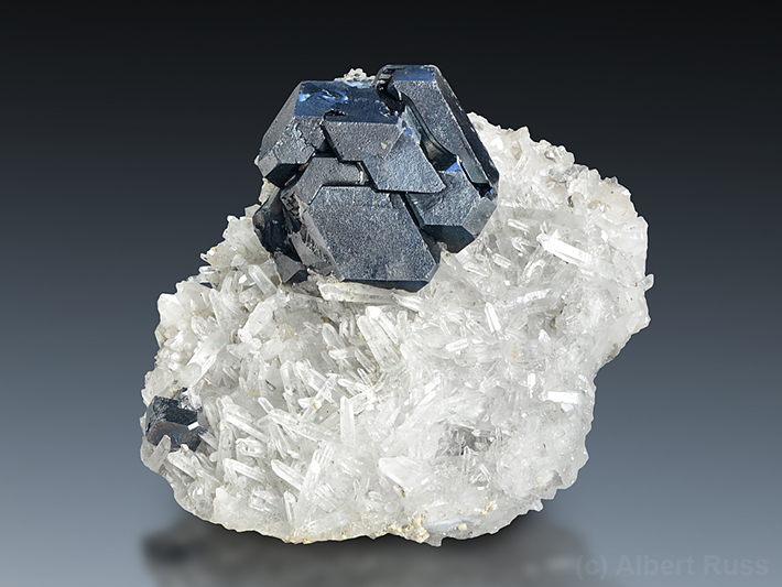 Galena crystal from Dalnegorsk, Russia