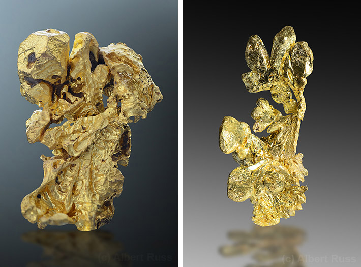 Natural gold crystals