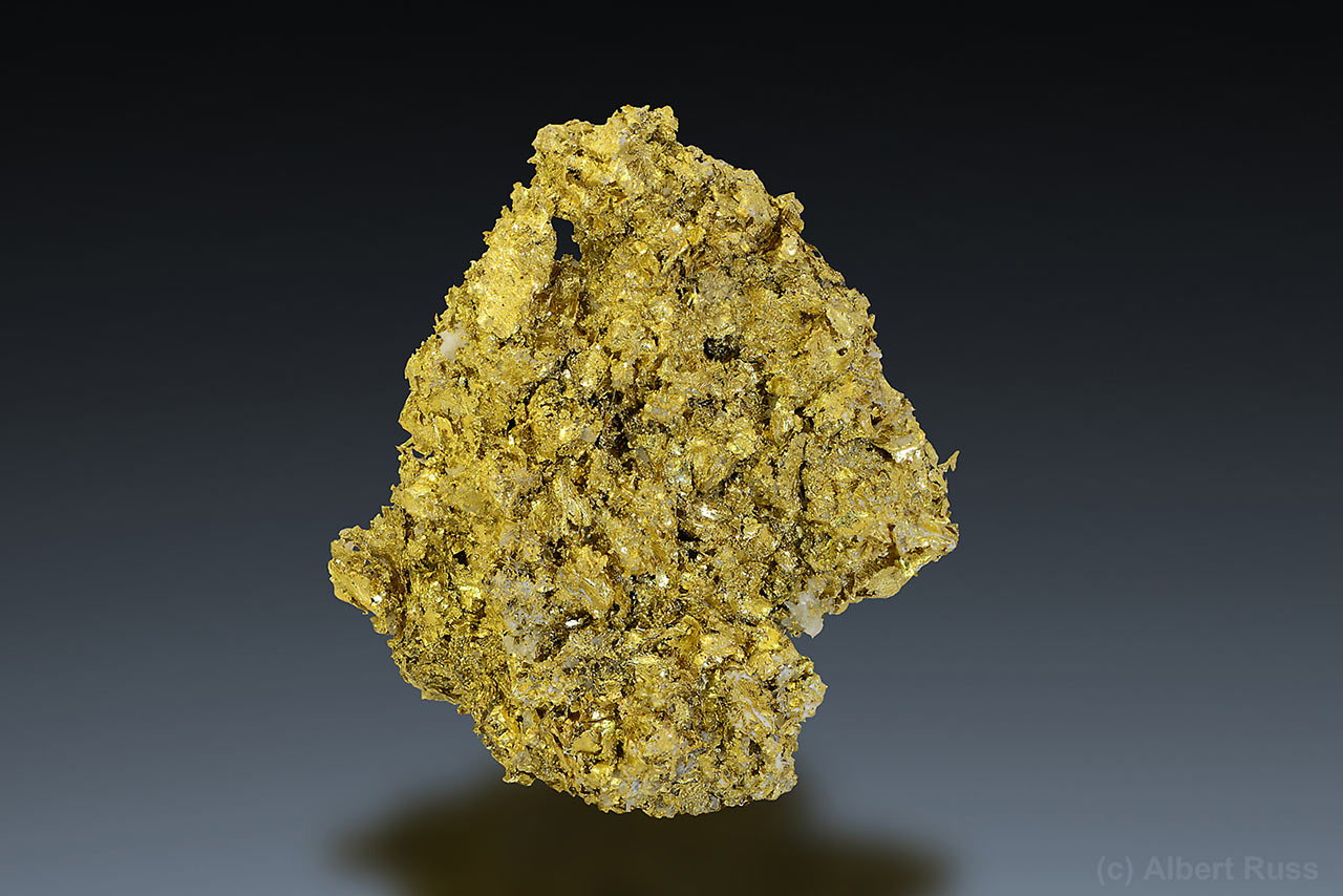 Native gold mineral specimen from Cavnic, Romania