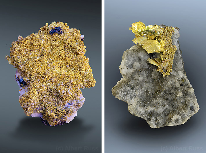 Native gold from Romania