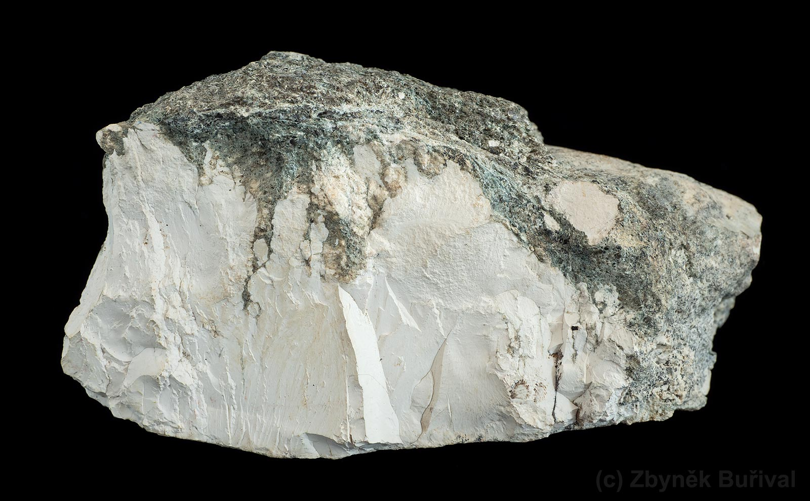 Fine grained white magnesite from Vezna, Czech Republic