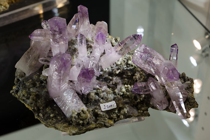 Amethyst crystals from Las Vigas, Mexico