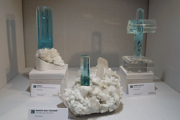 Aquamarine crystals from Pakistan