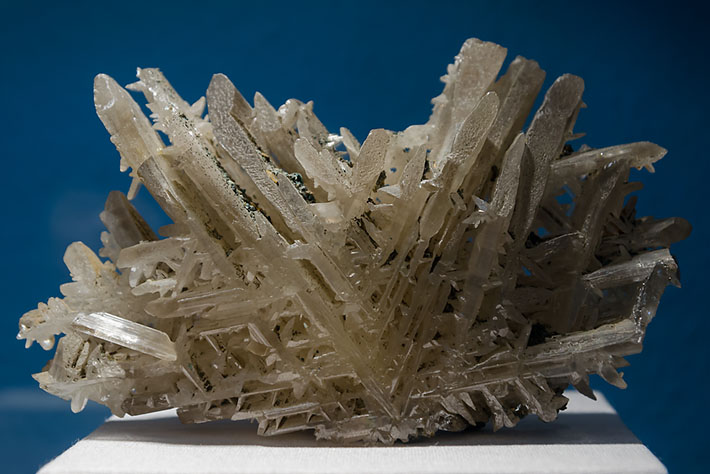 Twinned cerussite crystals from Tsumeb, Namibia