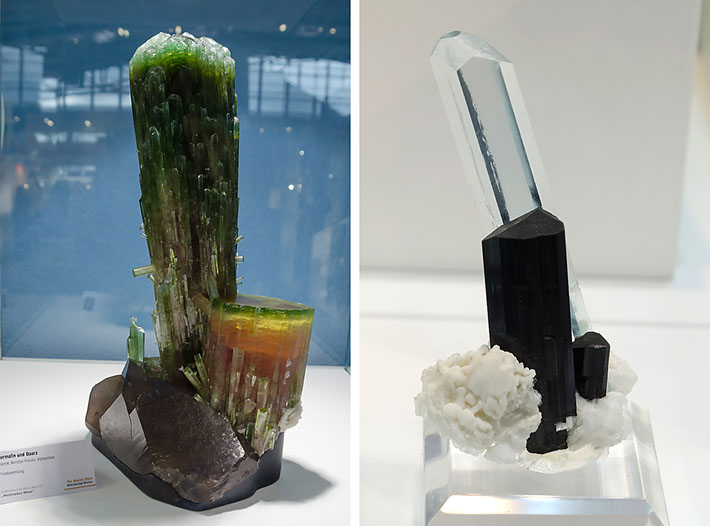 Elbaite and aquamarine crystals from Afghanistan