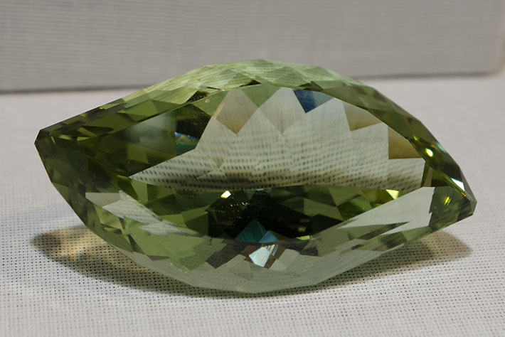 Faceted heliodor (beryl) from Volodarsk, Ukraine