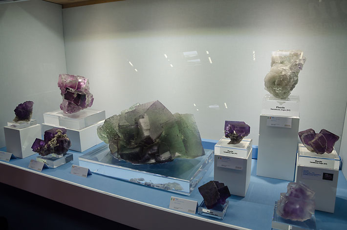 Various fluorite specimens from Italy