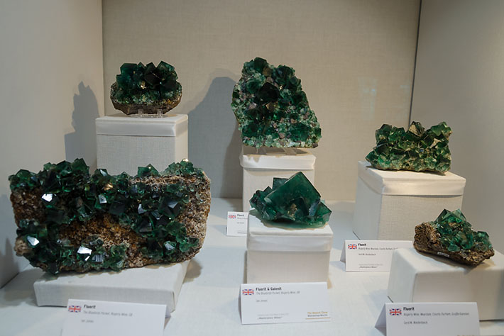 Green fluorite specimens from Rogerley Mine, UK