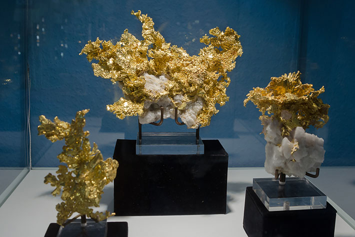 Native gold specimens from Eagle's Nest Mine, California, USA