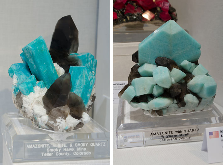 Amazonite and smoky quartz clusters from Colorado, USA