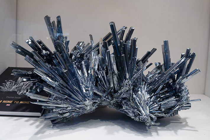 Stibnite crystals from China