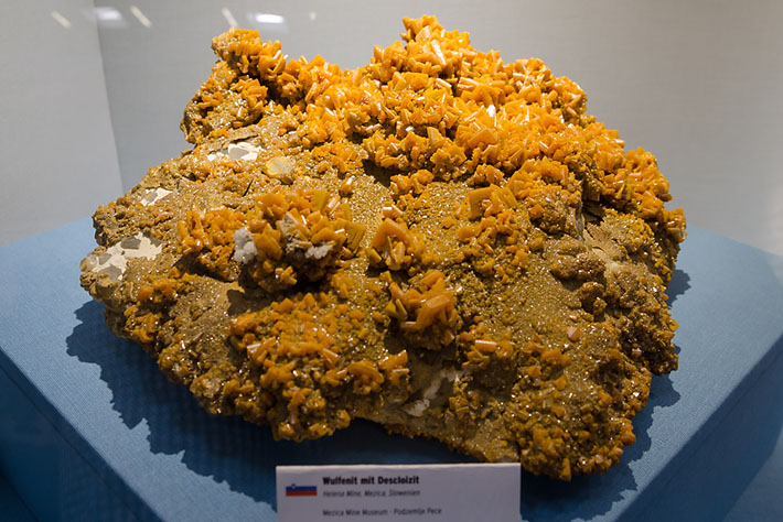 Wulfenite from Mezica, Slovenia