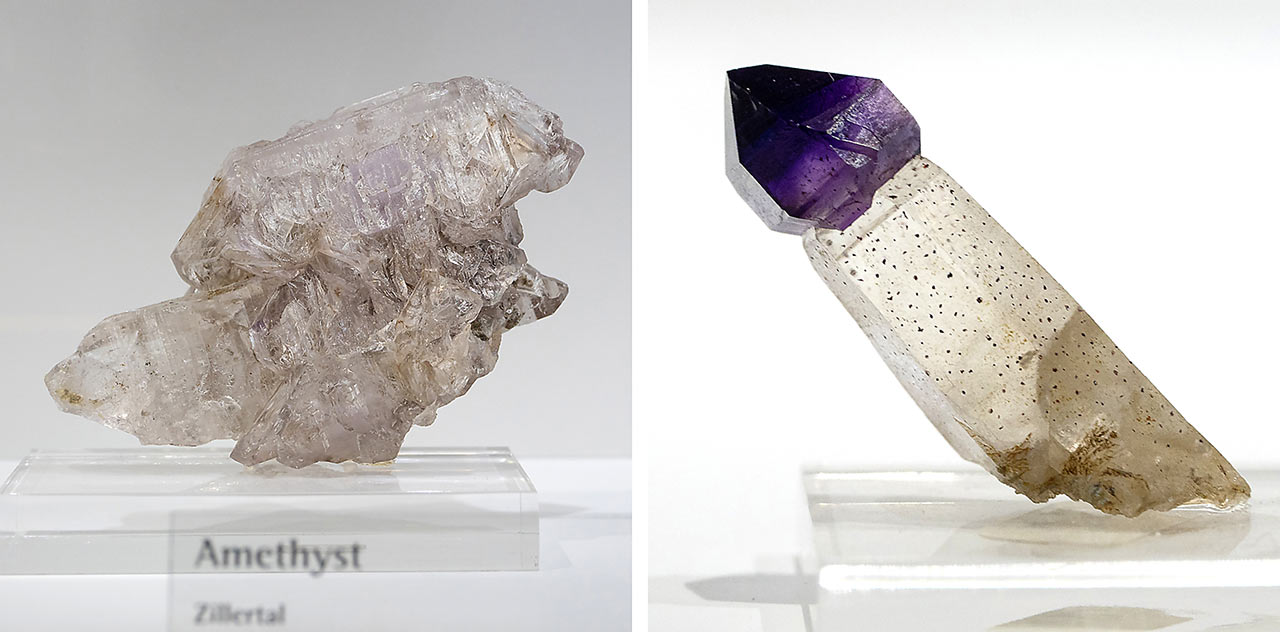 Amethyst crystals from the Zillertal Alps, Austria