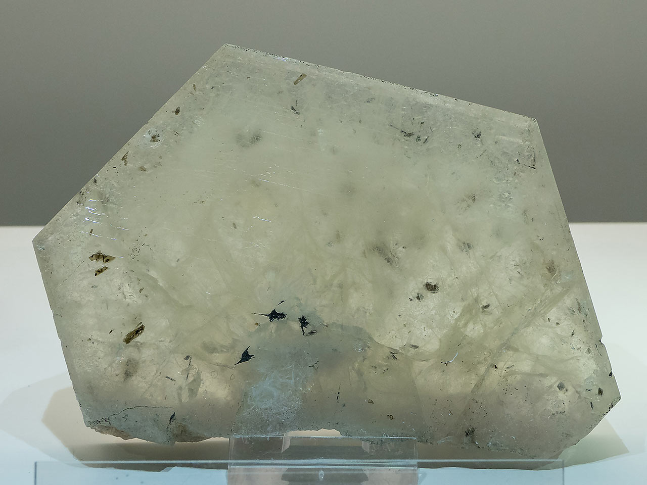 Huge apatite crystal from the Zillertal Alps, Austria