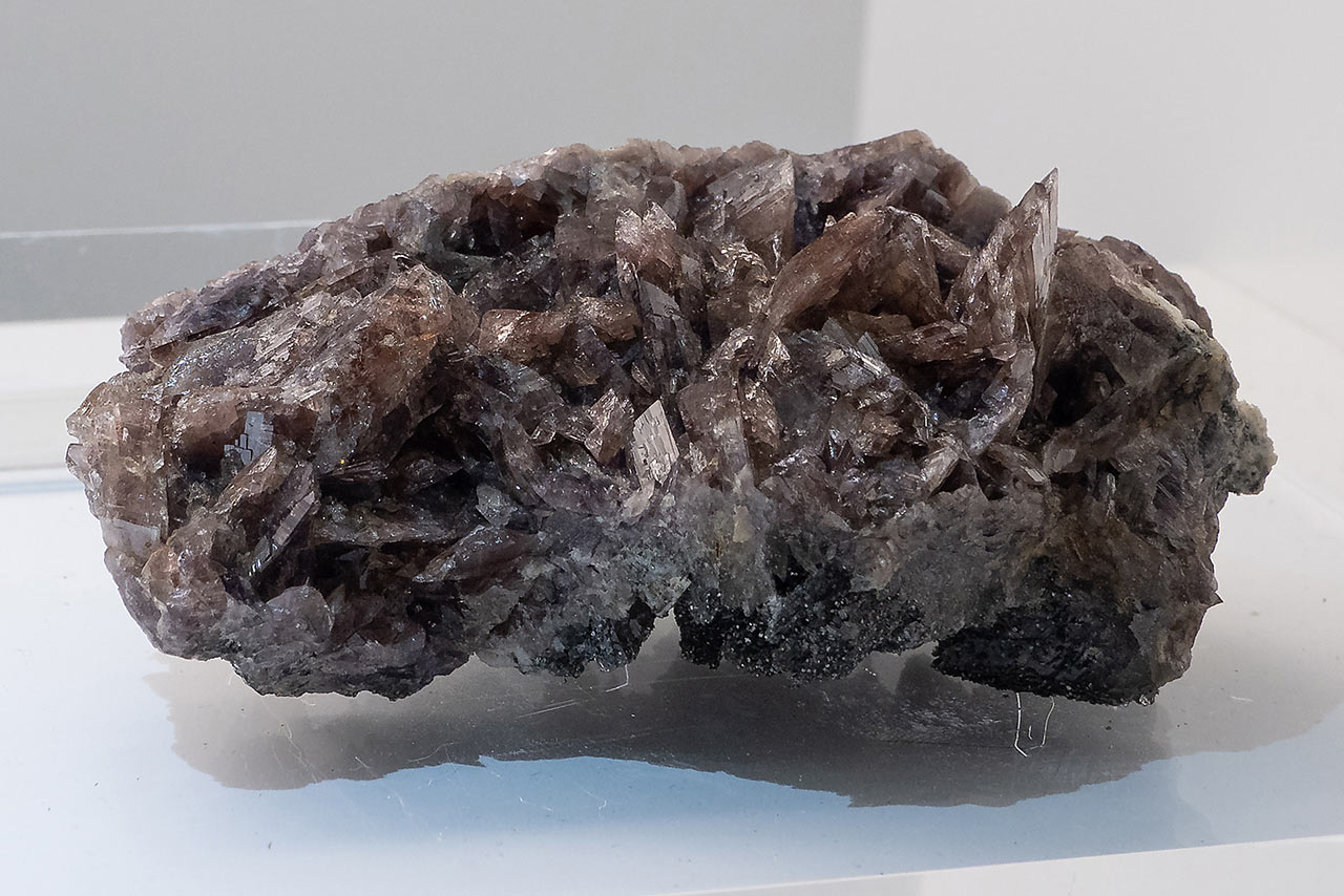 Cluster of rare axinite from the Hocharn, Hohe Tauern, Austria
