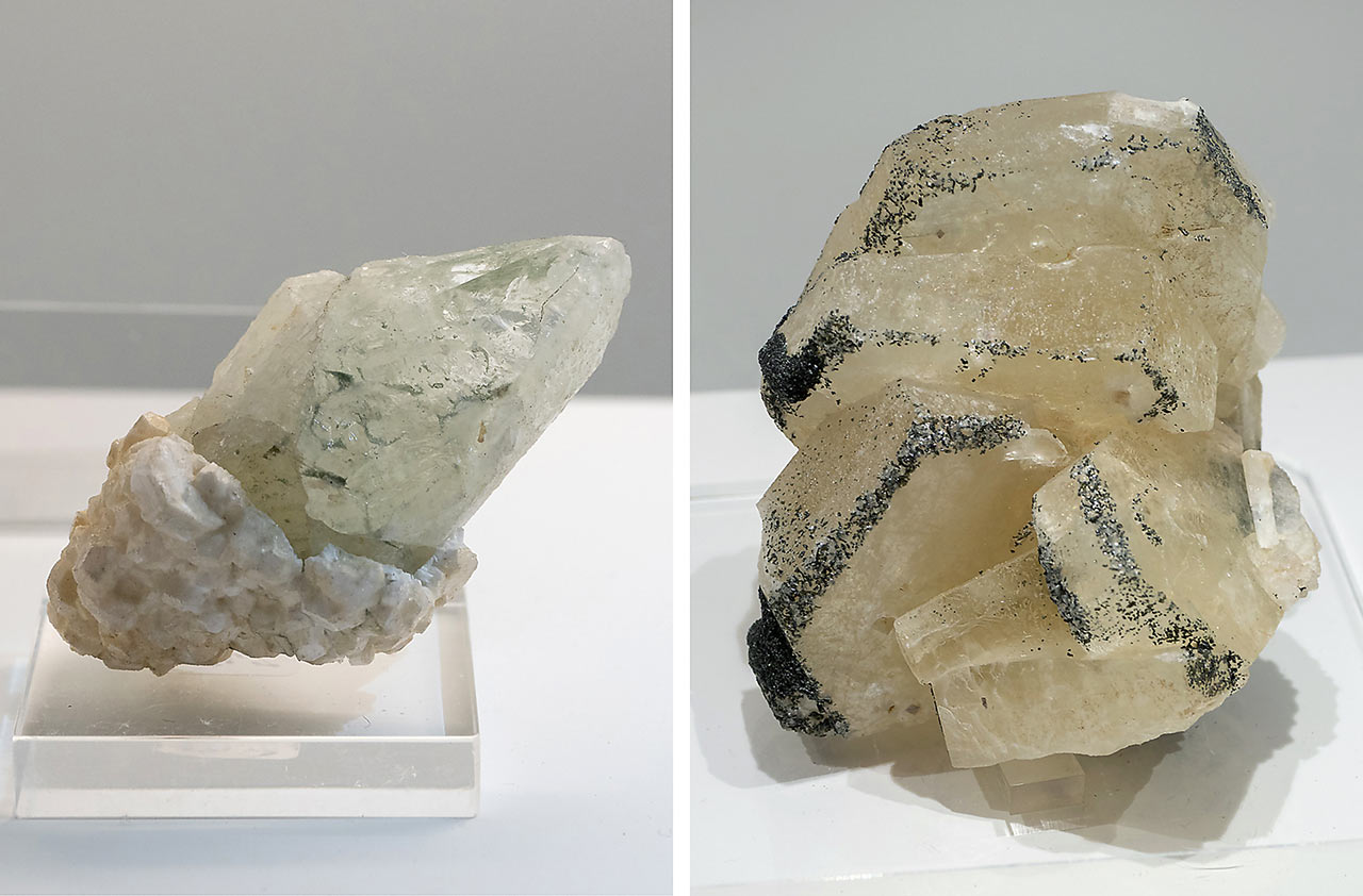 Datolite, apophyllite and apatite crystals from the Hohe Tauern, Austria