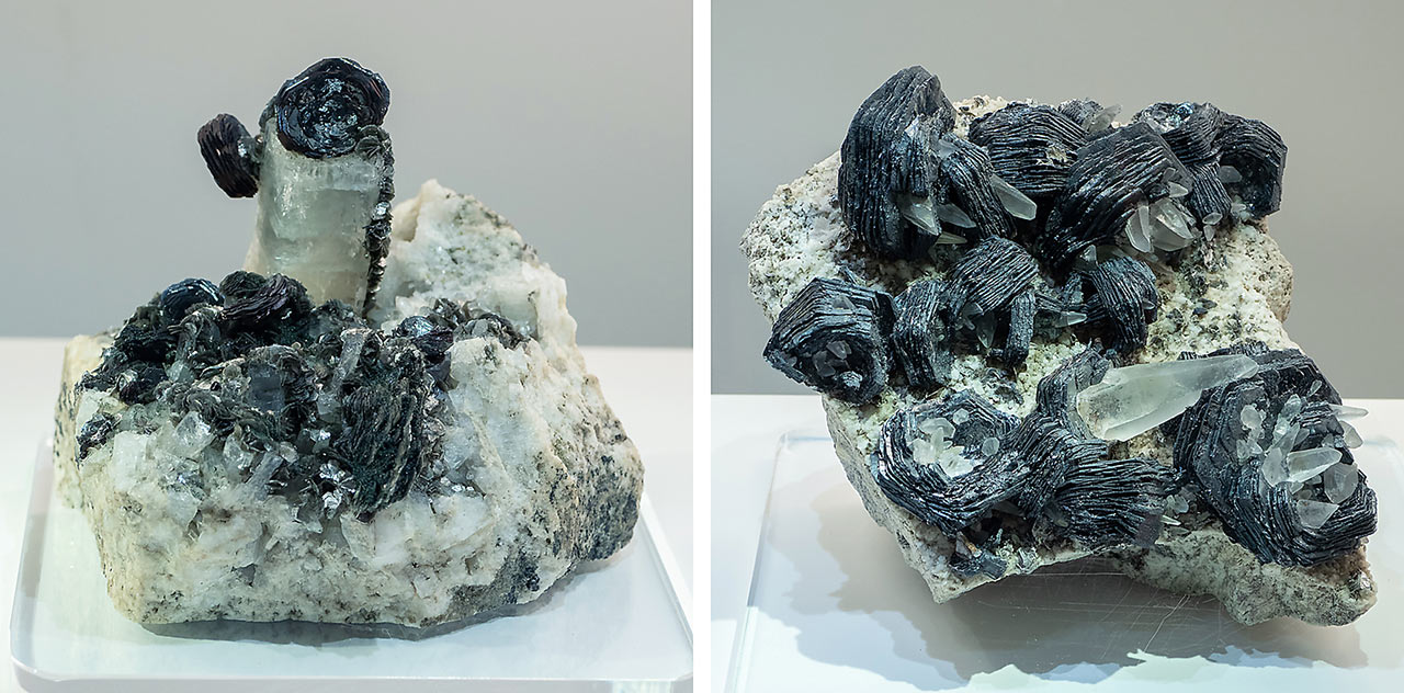 Alpine Hematite iron roses from the Zillertal Alps, Austria