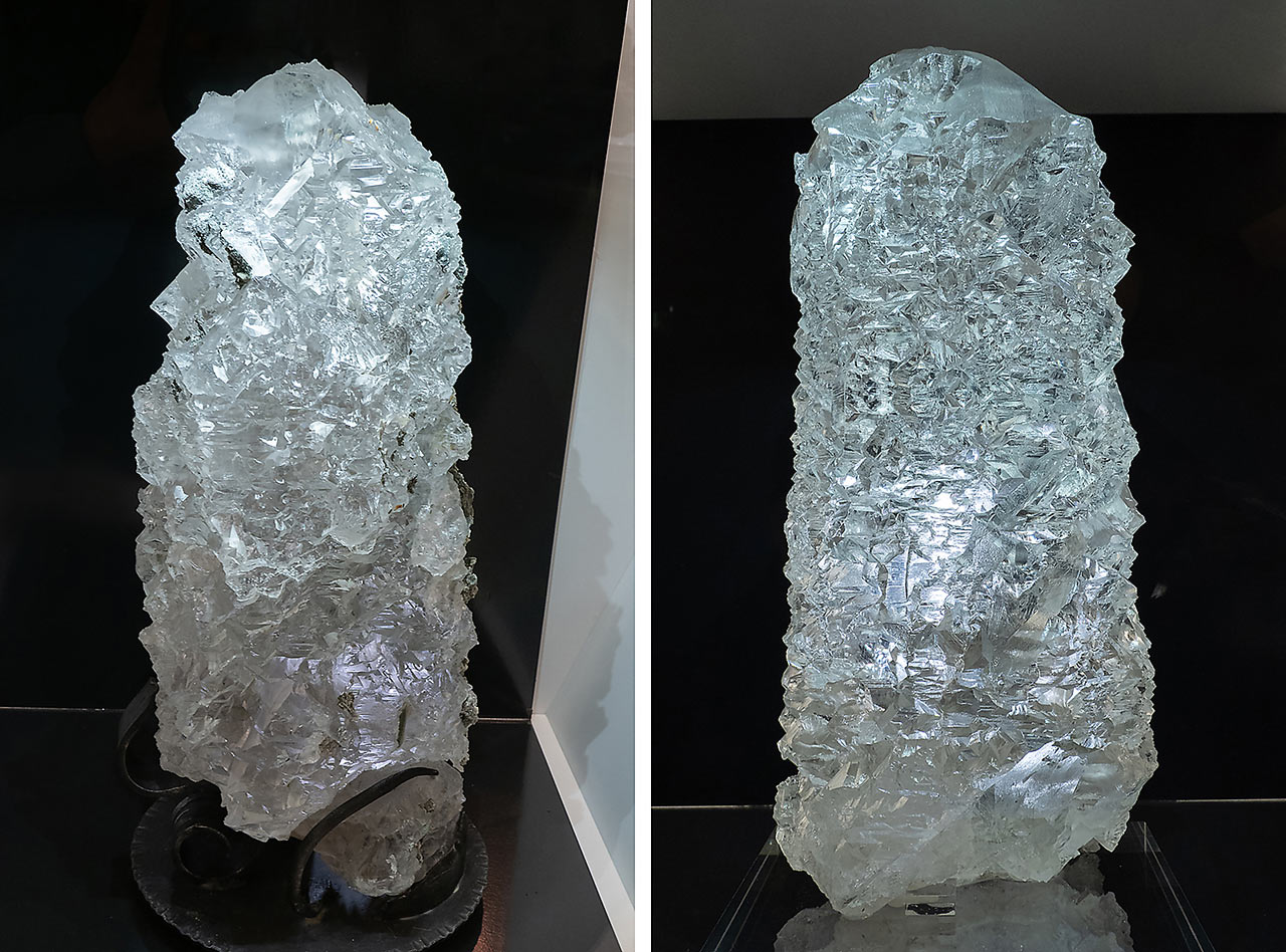 Huge etched quartz crystals from the Habachtal, Austria
