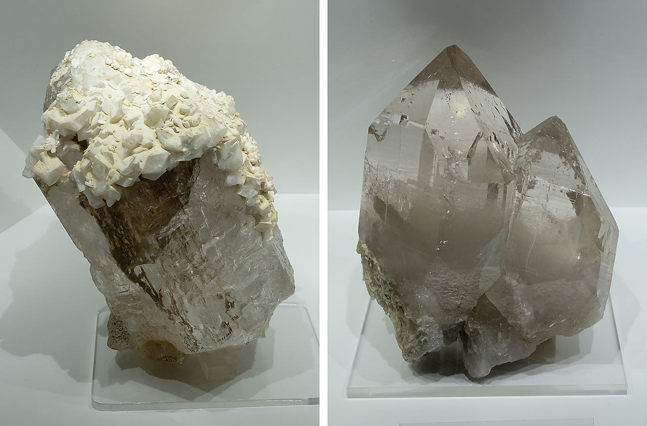 Smoky quartz crystals from the Hohe Tauern, Austria