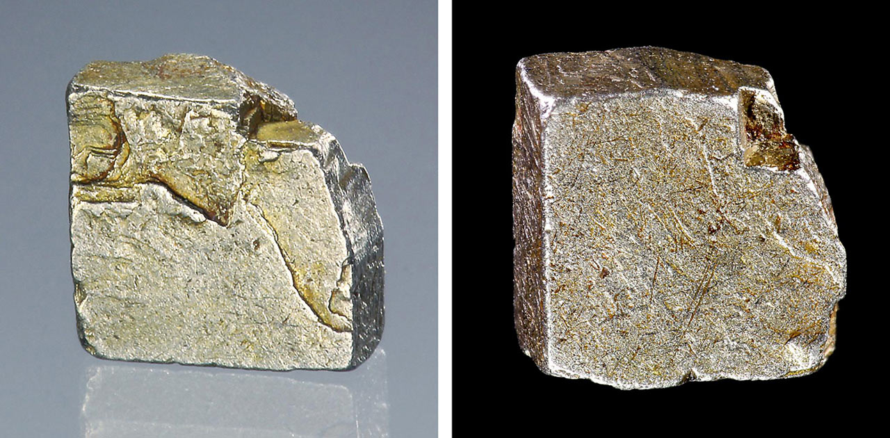 Cubic crystals of isoferroplatinum from Konder Mine, Khabarovsk, Russia