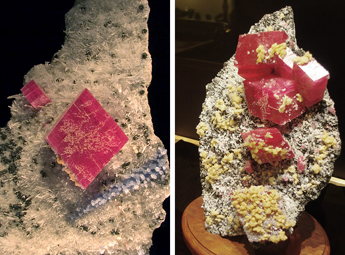 Rhodochrosite crystals from Sweet Home Mine, Alma, Colorado