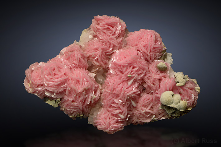 Pink rhodochrosite cluster from Romania