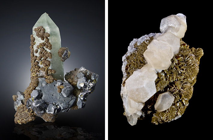 Siderite crystals from Romania and France