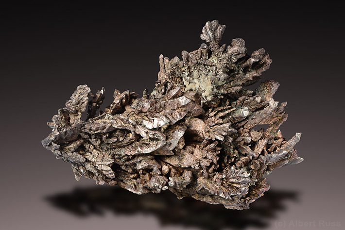 Cluster of native silver crystals from Michigan, USA