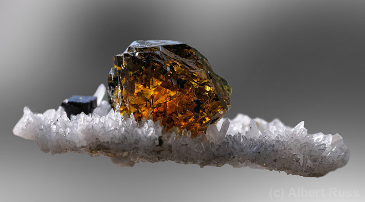 Gemmy yellow cleiophane sphalerite crystal from Slovakia