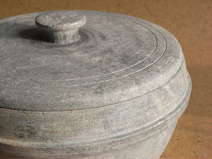 Historic pot made of talc - soapstone