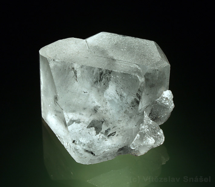 Crystal of pale blue topaz from locality Shengus in Pakistan