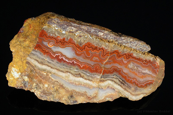 Vein agate from Cerny potok, Czech Republic