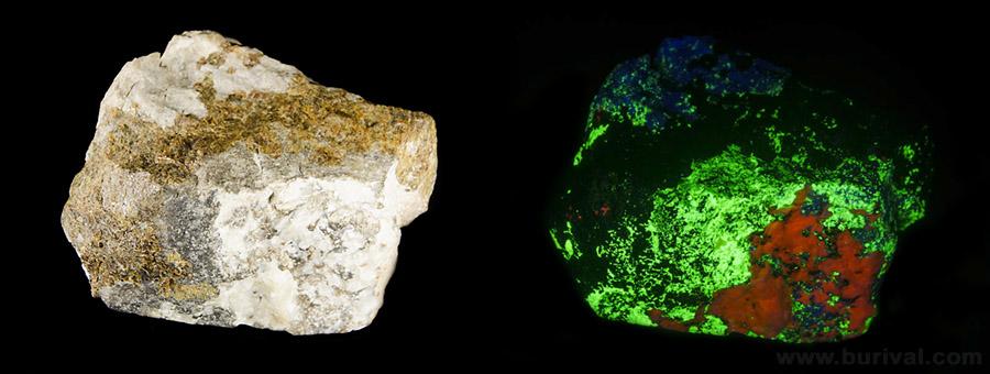 Andradite, Willemite, Calcite, Hardystonite