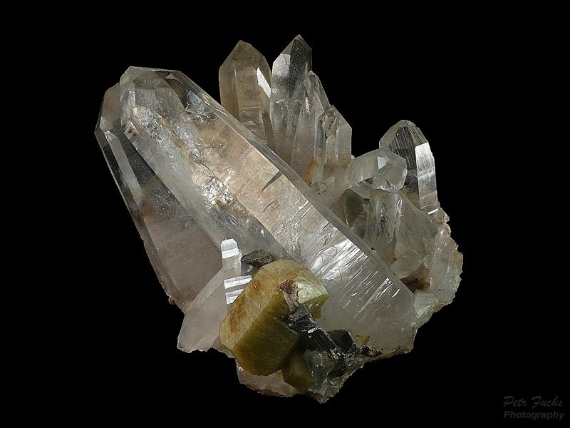 Quartz, Siderite, Arsenopyrite