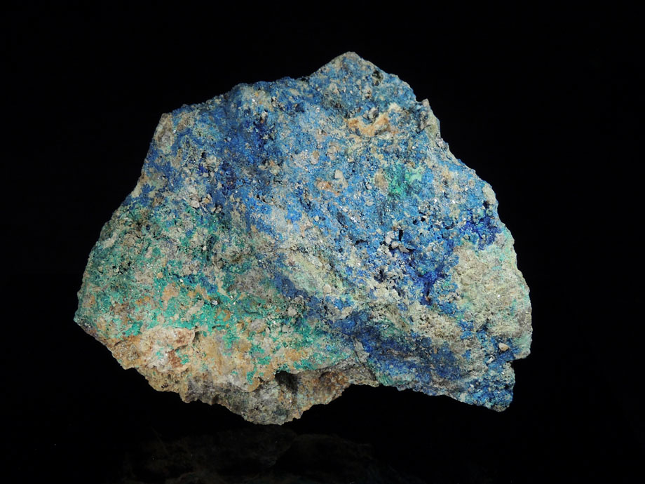 Linarite, Azurite, Brochantite