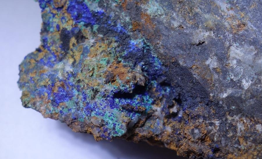 Copper, Azurite, Malachite