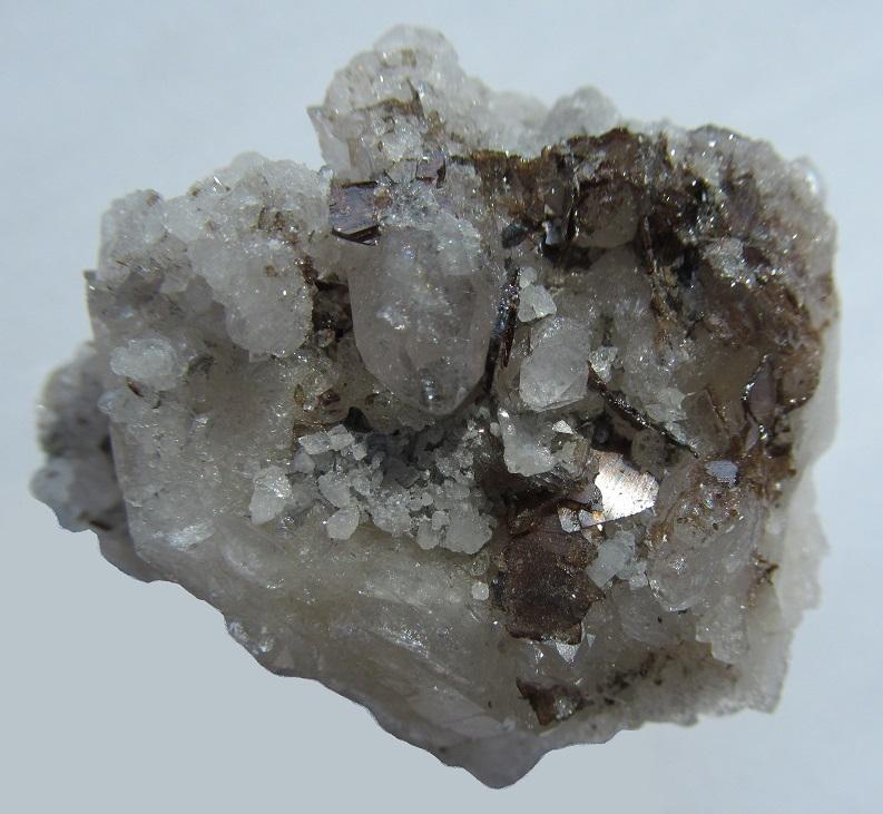 Brookite, Quartz (var. Rock Crystal)