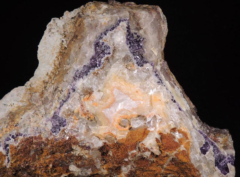 Calcite, Fluorite, Quartz