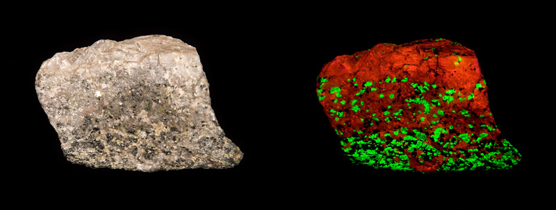 Franklinite, Willemite, Calcite