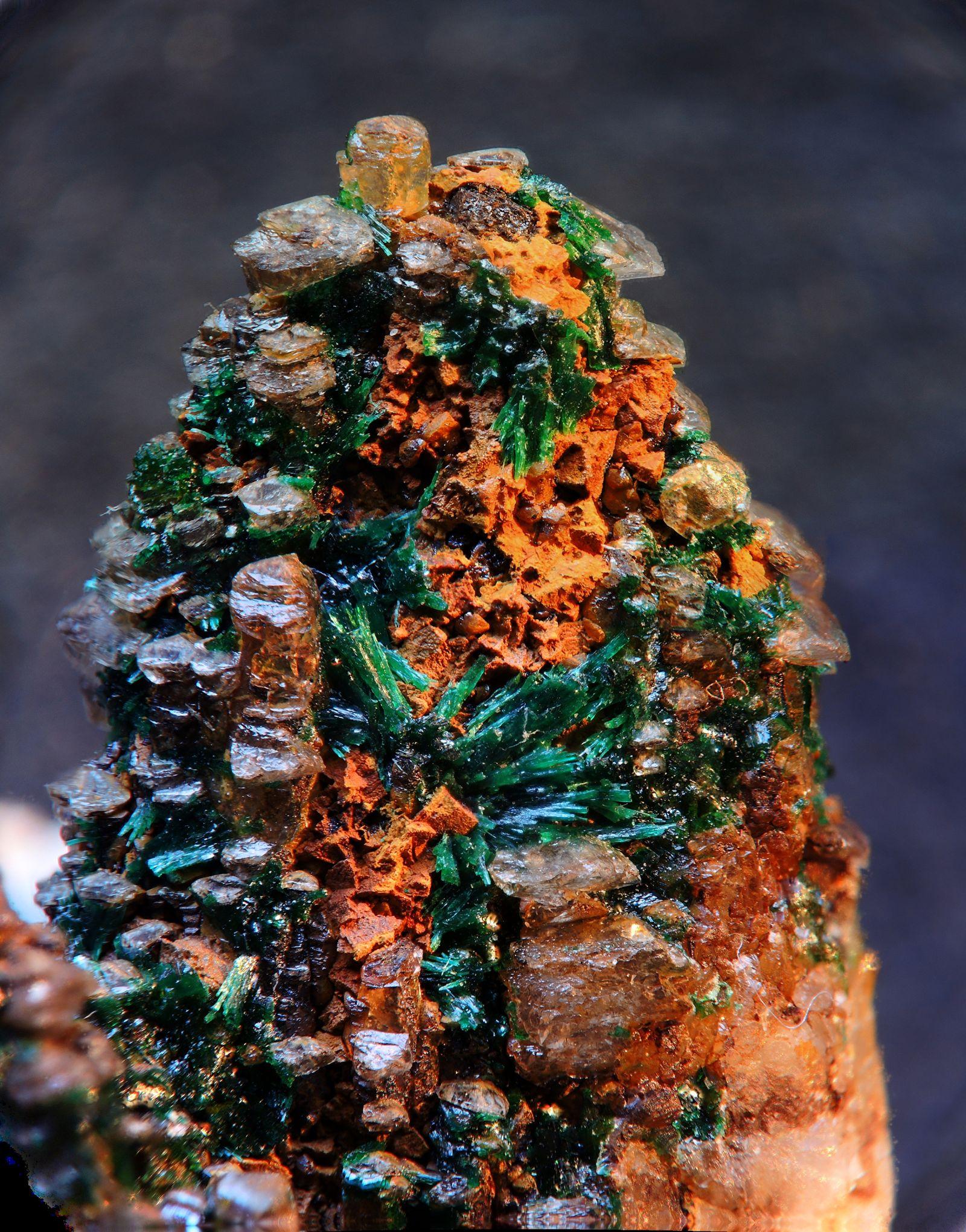 Malachite, Calcite